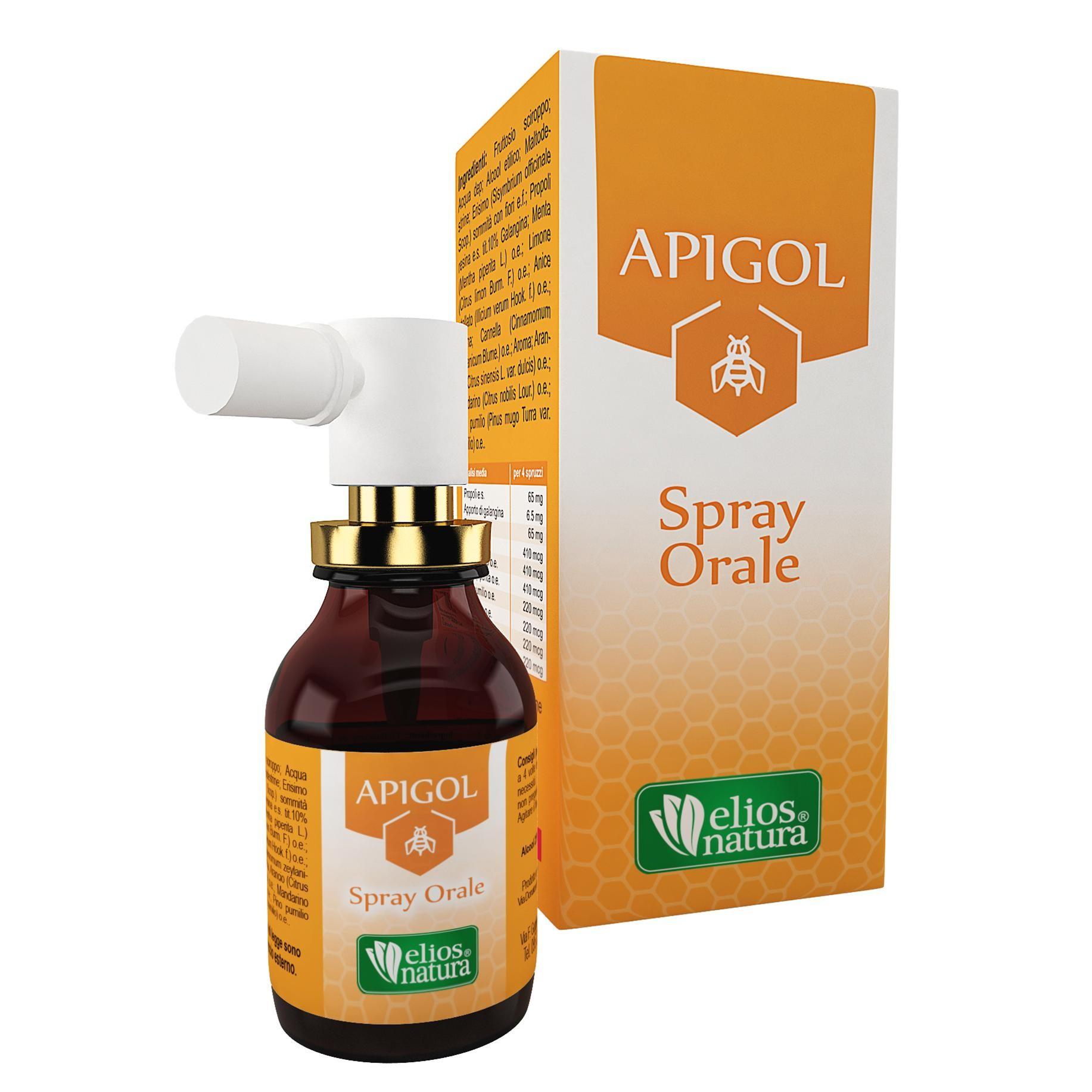 Tosse: Apigol spray orale