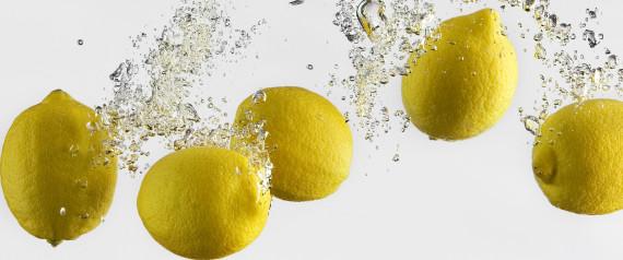 lemons, citrus, bubbles
