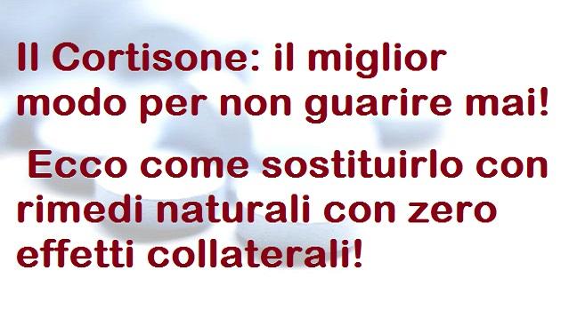 Cortisone: The best way to inhibit their bodies!